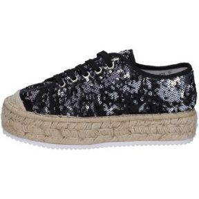 Sneakers Francescomilano sneakers nero tessuto paillettes BS76