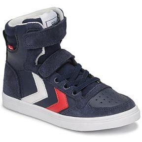 Ψηλά Sneakers Hummel SLIMMER STADIL HIGH JR ΣΤΕΛΕΧΟΣ: Δέρμα / ύφασμα & ΕΠΕΝΔΥΣΗ: Ύφασμα & ΕΣ. ΣΟΛΑ: Ύφασμα & ΕΞ. ΣΟΛΑ: Καουτσούκ