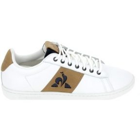 Xαμηλά Sneakers Le Coq Sportif Court Waxy Blanc Marron [COMPOSITION_COMPLETE]