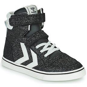 Ψηλά Sneakers Hummel SLIMMER STADIL GLITTER JR ΣΤΕΛΕΧΟΣ: Δέρμα και συνθετικό & ΕΠΕΝΔΥΣΗ: Ύφασμα & ΕΣ. ΣΟΛΑ: Ύφασμα & ΕΞ. ΣΟΛΑ: Καουτσούκ