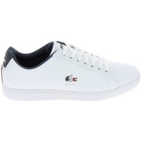Xαμηλά Sneakers Lacoste Carnaby New Blanc Bleu Rouge [COMPOSITION_COMPLETE]