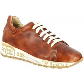 Xαμηλά Sneakers Leonardo Shoes CALM STAMPA MARRONE [COMPOSITION_COMPLETE]