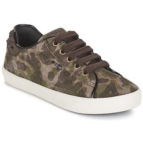 Xαμηλά Sneakers Geox KIWI GIRL ΣΤΕΛΕΧΟΣ: Συνθετικό & ΕΠΕΝΔΥΣΗ: Ύφασμα & ΕΣ. ΣΟΛΑ: Δέρμα & ΕΞ. ΣΟΛΑ: Καουτσούκ