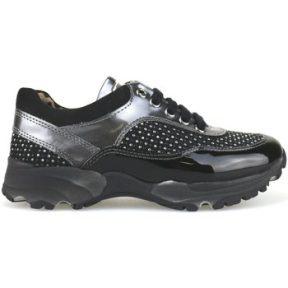 Xαμηλά Sneakers Nada sneakers nero camoscio grigio vernice strass AH189