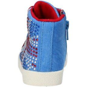 Ψηλά Sneakers Lulu sneakers blu tela strass AG663