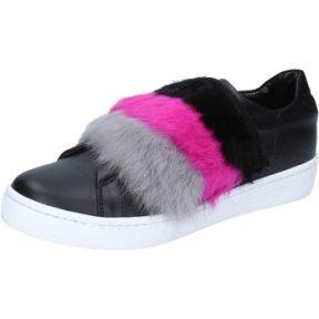 Sneakers Islo sneakers nero pelle pelliccia BZ213