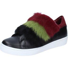 Sneakers Islo sneakers nero pelle pelliccia bordeaux BZ214