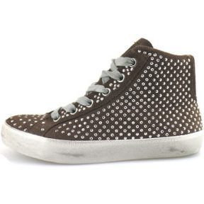 Ψηλά Sneakers Crime London sneakers marrone camoscio strass AH983