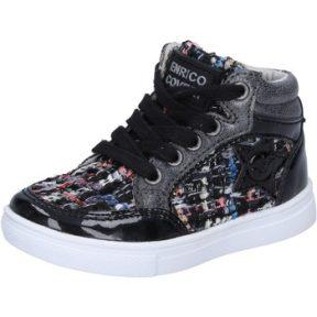 Ψηλά Sneakers Enrico Coveri sneakers nero tessuto vernice BX822